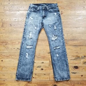 Flypaper Blue Factory Distressed Jeans
